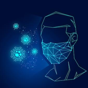 Concetto di maschera medica coronavirus