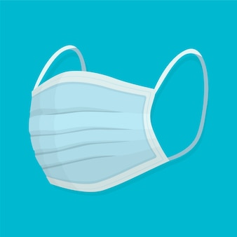 Concetto di maschera medica design piatto