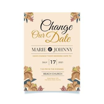 Concetto di matrimonio posticipato tipografico