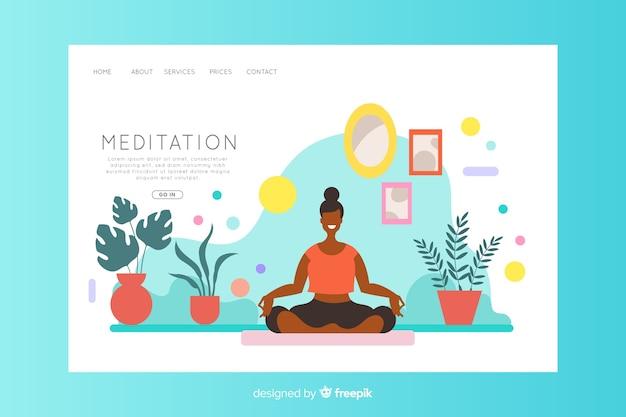 Concetto di meditazione per landing page
