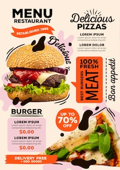 Concetto di menu del ristorante digitale