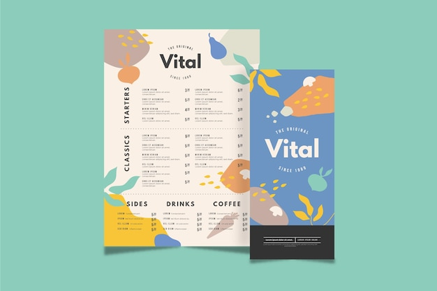 Concetto di menu in design piatto