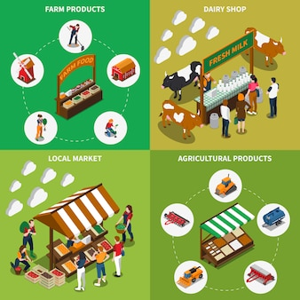 Concetto di mercato agricolo