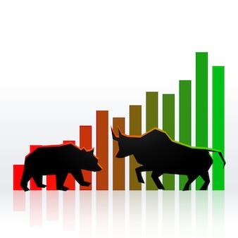 Concetto di mercato azionario