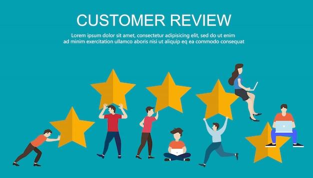 Concetto di messaggi di feedback, notifiche e testimonianze