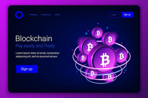 Concetto di mining bitcoin.