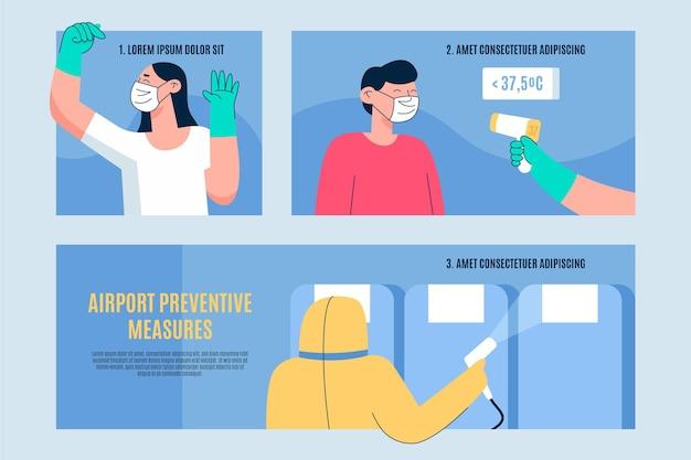 Concetto di misure preventive dell'aeroporto