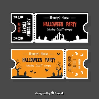 Concetto di modello biglietto di halloween