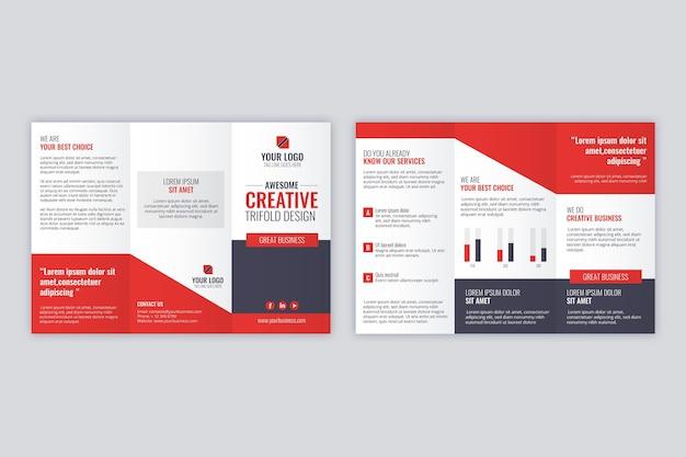 Concetto di modello di brochure a tre ante