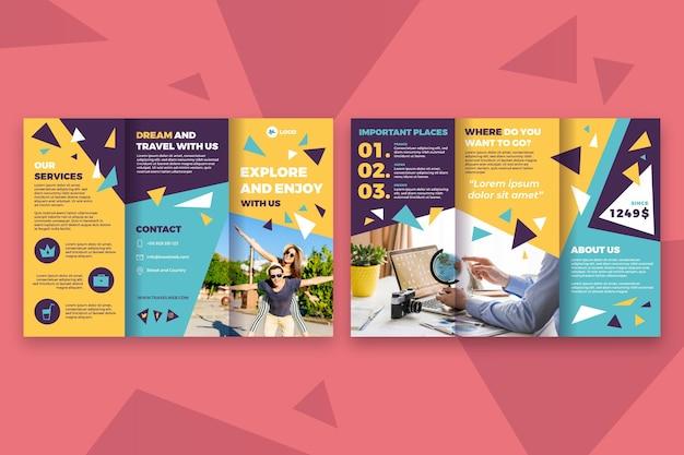 Concetto di modello di brochure