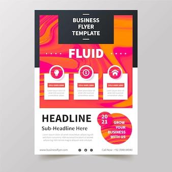 Concetto di modello di business flyer