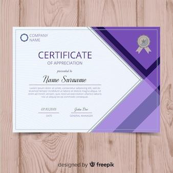 Concetto di modello di certificato creativo