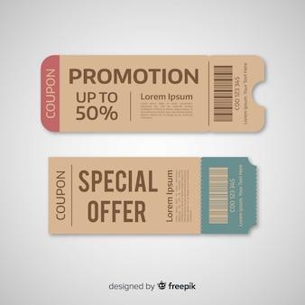 Concetto di modello di coupon moderno