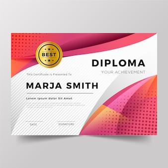 Concetto di modello di diploma