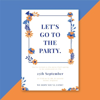 Concetto di modello di invito a una festa