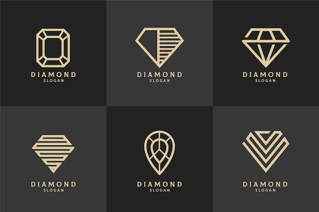 Concetto di modello di logo di diamante