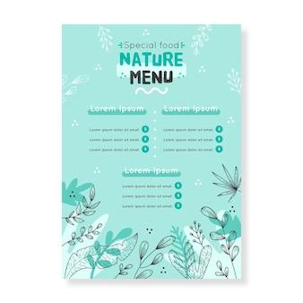 Concetto di modello di menu
