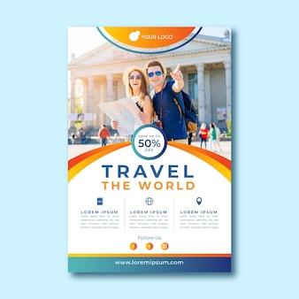 Concetto di modello di poster di viaggio