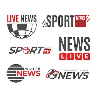 Concetto di modello di raccolta logo notizie