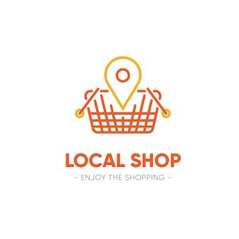Concetto di modello logo supermercato