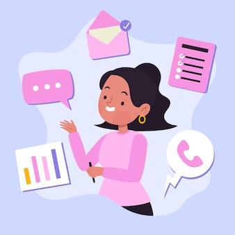 Concetto di multitasking per l'illustrazione
