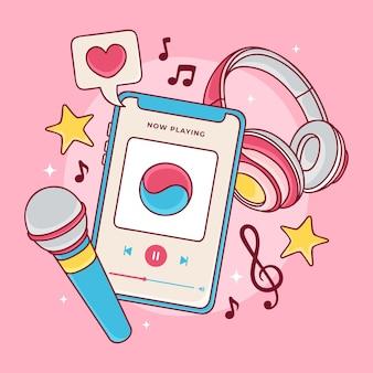 Concetto di musica k-pop