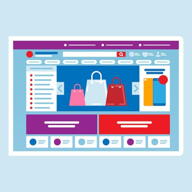Concetto di negozio online. acquisti online