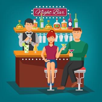 Concetto di night bar