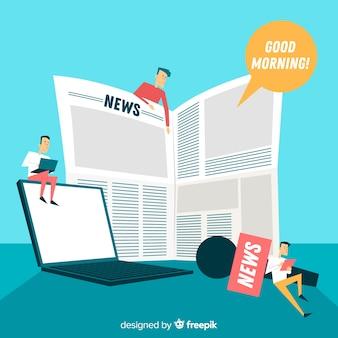Concetto di notizie per landing page