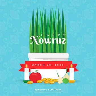 Concetto di nowruz design piatto
