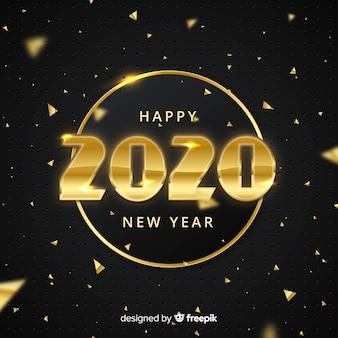 Concetto di nuovo anno con design dorato