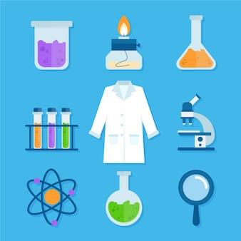 Concetto di oggetti laboratorio di scienza