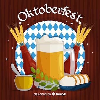 Concetto di oktoberfest con design piatto