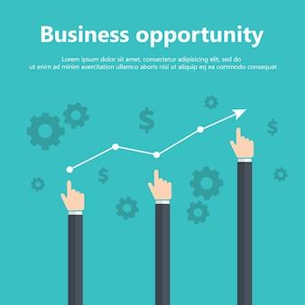 Concetto di opportunità di affari