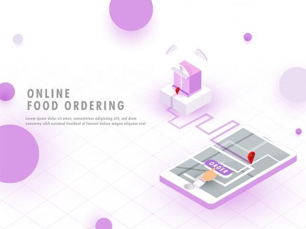 Concetto di ordinazione di cibo online