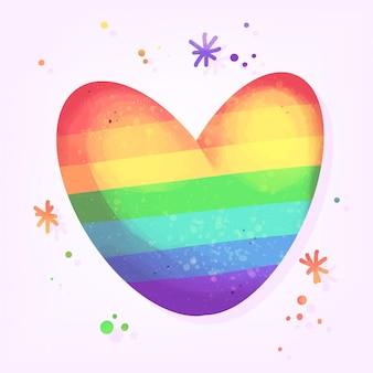 Concetto di orgoglio con cuore colorato