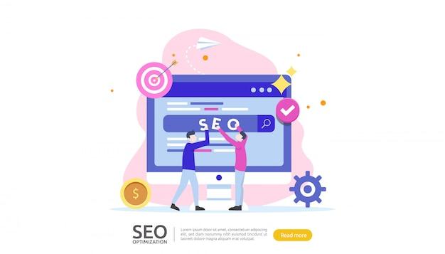 Concetto di ottimizzazione del motore di ricerca seo