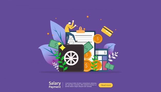 Concetto di pagamento di stipendio