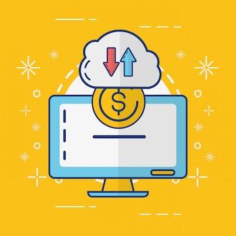 Concetto di pagamento online