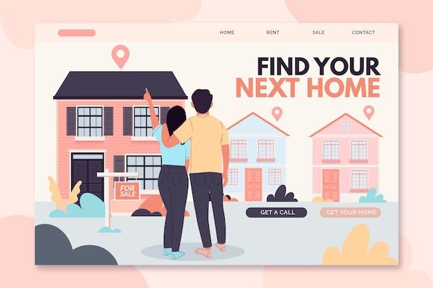 Concetto di pagina di destinazione immobiliare