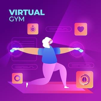 Concetto di palestra virtuale