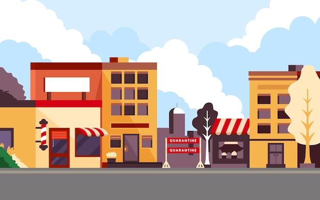 Concetto di pandemia della città vuota