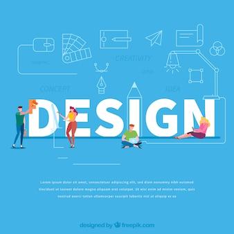Concetto di parola di design