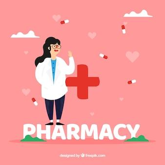 Concetto di parola di farmacia