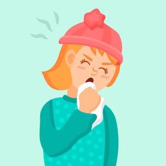 Concetto di persona tosse