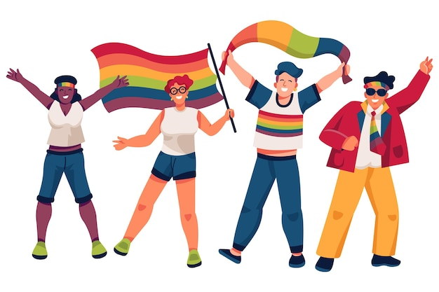 Concetto di persone giorno dell'orgoglio