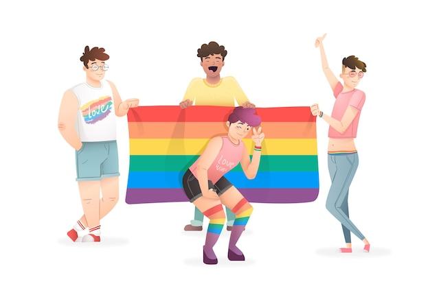 Concetto di persone orgoglio giorno
