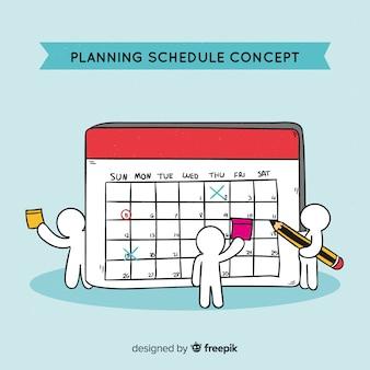 Concetto di pianificazione pianificazione disegnata a mano bella