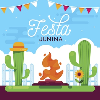 Concetto di piatto festa junina
