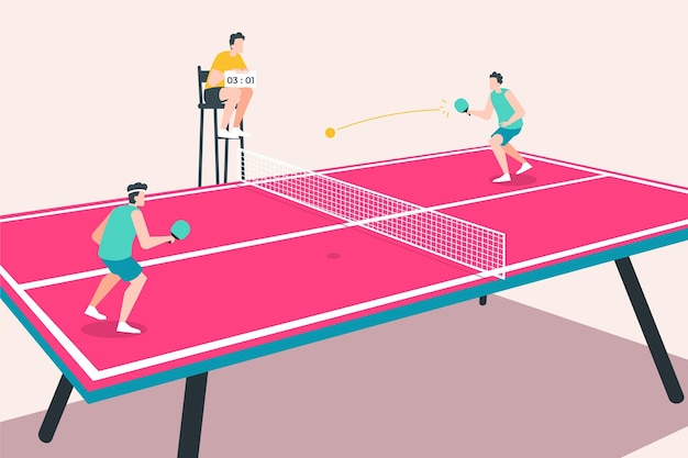 Concetto di ping-pong